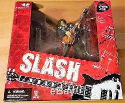 Slash Guns N Roses Mcfarlane Toys Deluxe Box Set Figure Guitarist Gibson L@@k