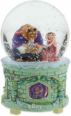 Snow globe La Belle et la bête DISNEY STORE musical et lumineux boule à neige