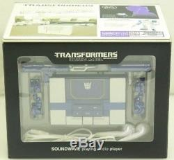Takara Transformers Music Label Soundwave MP3 Player Figure (Spark Blue Version)
