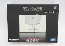 Takara Transformers Music Label Soundwave (White) MP3 Player Figure