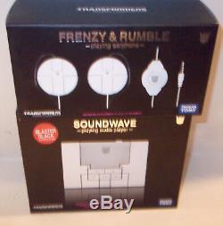 Takara Transformers Music Soundwave MP3 BLASTER BLACK RUMBLE FRENZY HEADPHONES