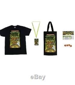 Teenage Mutant Ninja Turtle Musical Mutagen Tour Bundle Figure 4 Pack Tshirt L