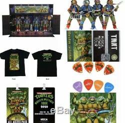 Teenage Mutant Ninja Turtles Musical Mutagen Bundle Figure 4 Pk Tshirt L NECA