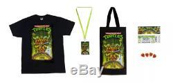 Teenage Mutant Ninja Turtles Musical Mutagen Tour Bundle Figure & Tshirt Size M