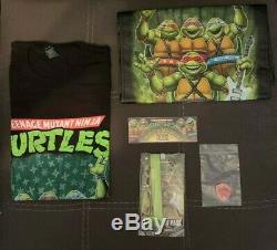 Teenage Mutant Ninja Turtles Musical Mutagen Tour Bundle Figure & Tshirt Sz XXL