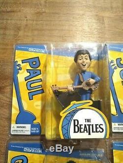 The Beatles Cartoon Action Figures McFarlane Toys Spawn. Com 2004 Mint, NIP, Rare