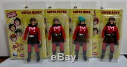 The Monkees 8 Retro Style Action Figures SUPERHERO Outfit Set of all 4
