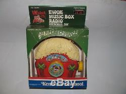 Vintage 1984 Kenner Star Wars ROTJ Wicket The Ewok Music Box Radio Toy Sealed