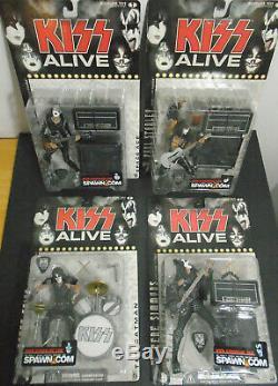 Vintage Nos 2000 Kiss Alive Figures Mcfarlane Toys Lot Of 4