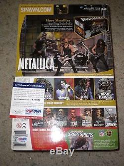 WOW! KIRK HAMMETT METALLICA SIGNED 2001 McFARLANE ACTION FIGURE psa/dna