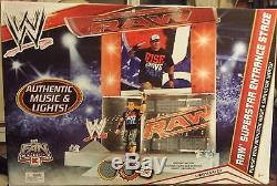 WWE RAW Superstar Entrance Stage playset authentic music and superstar intros