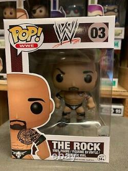 WWE The Rock 03 Funko Pop Vinyl EXPERT PACKAGING