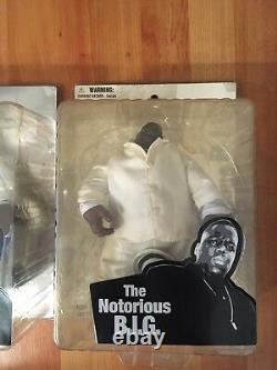 X2 Notorious B. I. G. Biggie smalls action figure (please Read Description)